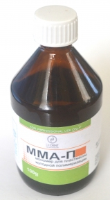 Мономер ММА-П (Dident) для пластмаси холодної полімеризації, 100 мл.