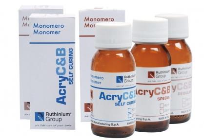 Жидкость (мономер) Acry С&B Regular для пластмассы гарячей полимеризации в кувете, 60 мл.
