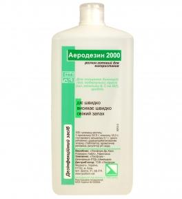 Аеродезін 2000 (готовий розчин для дезінфекції поверхонь), 1000 мл. (без розпилювача)
