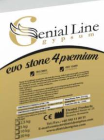 Гипс EVO STONE 4 PREMIUM супергипс 4-го класса (синтетический)