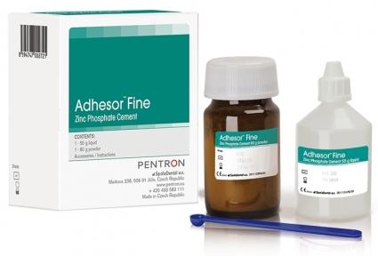 Adhesor Fine (Адгезор Файн), цинк-фосфатный цемент, 80г. + 55мл.