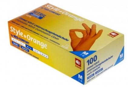 Рукавички нітрилові AMPRI Style Color ORANGE 01188, 100 шт.(50 пар/помаранчеві)