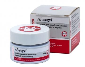 Alveogyl (Альвожил) антисептический компресс/повязка для альвеол, 10 г.