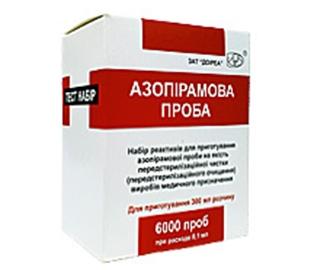Азопирамовая проба (контроль качества предстерилизационной очистки)