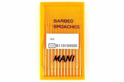 Пульпоекстрактори MANI Barbed Broaches 52 мм., 12 шт.