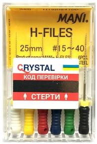 H-файли MANI H-Files ●25 мм.●, 6 шт.