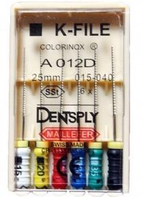 K-File (К-файлы) 25 мм. в ассортименте, Dentsplay