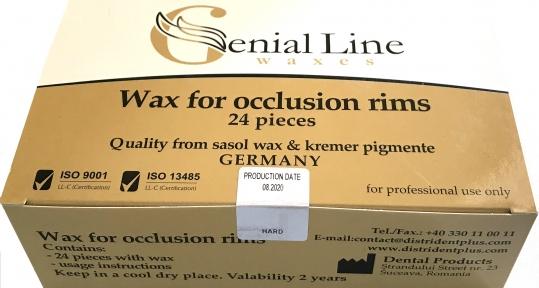 Окклюзионный воск WAX FOR OCCLUSION RIMS, 24 шт.
