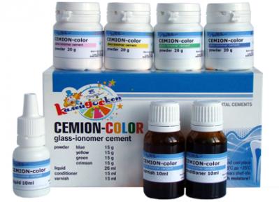 Цеміон-колор, набір 4-х кольорів (кольорові пломби)