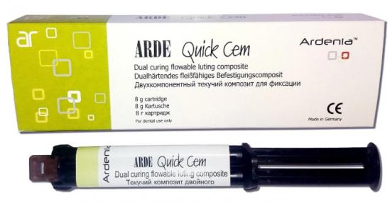 ARDE Quick Cem (Арде Квик Цем) текучий композит двойного отверждения для фиксации, 8 г.