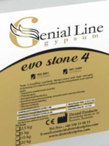 Гипс EVO STONE 4 супергипс 4-го класса (модифицированный синтетический)
