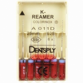 K- Reamer (К-Рімери) 25 мм. в асортименті, Dentsplay