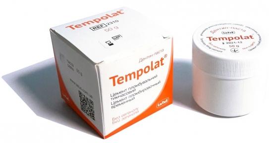 Темполат (Tempolat) безэвгенольная дентин-паста, 50 г.