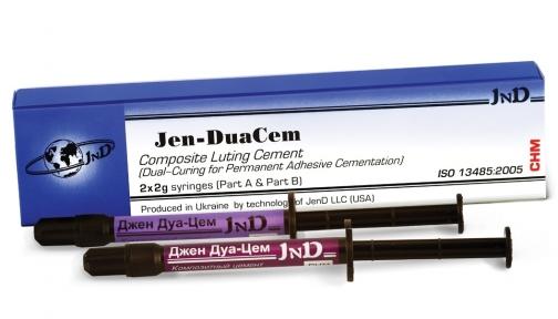 Jen-DuaCem (Джен Дуацем) цемент композитный для фиксации, 2шп. по 2г.