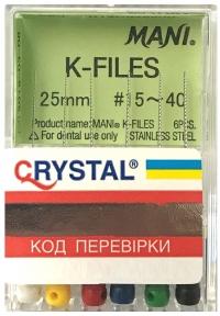 К-файлы MANI K-Files 25 мм., 6 шт.
