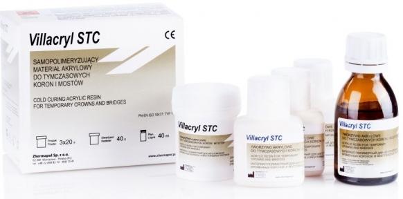 Villacryl STC (Віллакріл СТС) облицювання коронок та мостів, 80г. + 40мл.