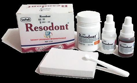 Резодонт (Resodont) цемент резорцин-формаліновий, 40г. + 2х12мл.