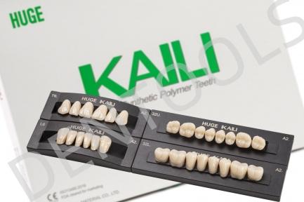 Зуби полімерні Huge KAILI, повний комплект 28 шт. (4 гарнітури)