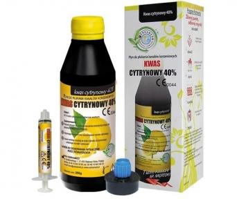 CITRIC ACID 40% (лимонная кислота) для промывания корневых каналов, 400 мл.