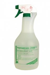 Аеродезін 2000 (готовий розчин для дезінфекції поверхонь), 1000 мл. (з розпилювачем)