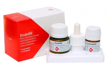 Ендофіл (Endofill) з дексаметазоном для постійного пломбування, набір 15 г. + 15 мл.