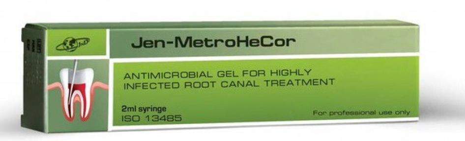 Jen-MetroHeCor (Джен-МетроГеКор) антимікробний гель для інфікованих каналів, 2 мл.